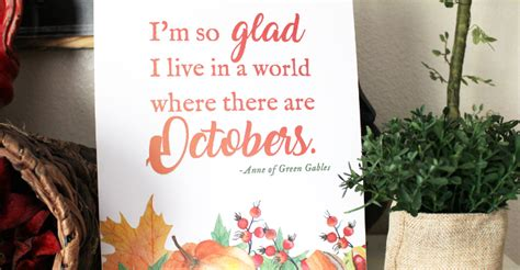 Free Printable Anne of Green Gables Quote