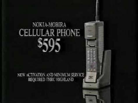 Old Cell Phone Ad 1980's - YouTube