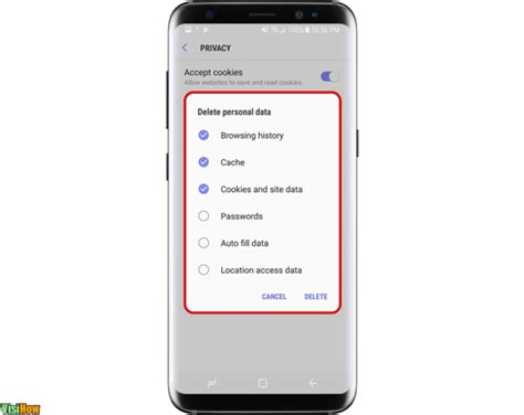Clear Cache, Cookies and History on Samsung Galaxy S8