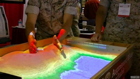 Design Digital Terrain with the Army's Projection-Mapped