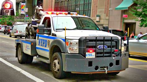 Compilation of NYPD Police Tow Truck Ford F-550 - YouTube