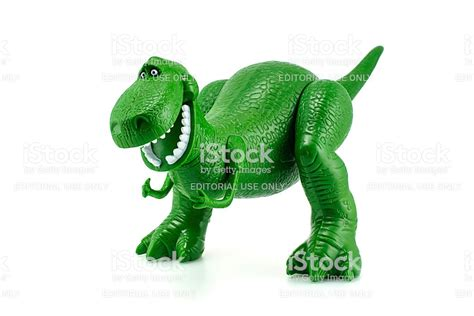 Rex The Green Dinosaur Toy Character From Toy Story Stock