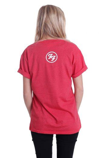 Foo Fighters - Foos Logo Heather Red - T-Shirt - Official