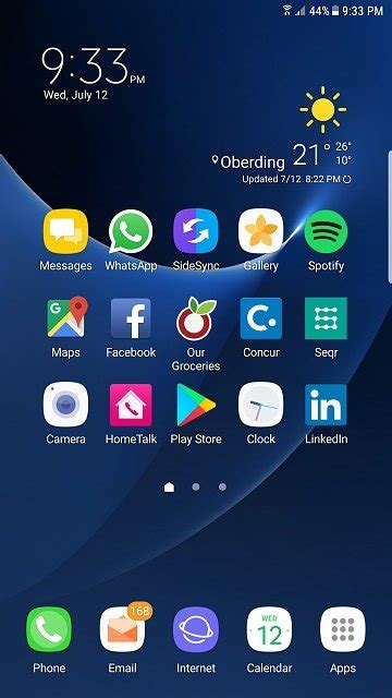 Galaxy S7 edge homescreen shrunk - Android Forums at