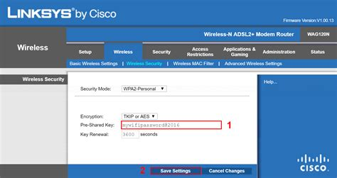 Change Wi-Fi password on Linksys WAG120N - Linglom