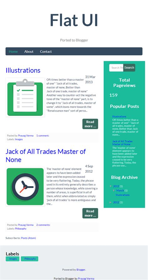 New Blogger Template : FlatUI | Stylify Your Blog