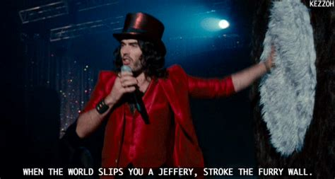 gif drugs russell brand get him to the greek furry wall