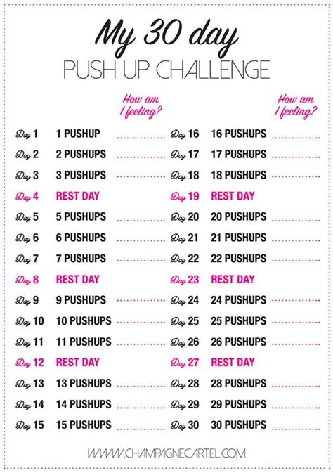30 day pushup challenge for beginners | Push up challenge