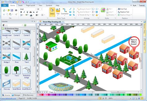 Easy Street Map Drawing Software - Make Map Directions