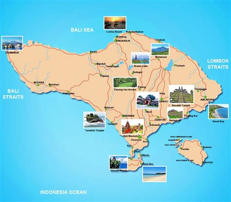 tourist map of bali indonesia | Bali Tour Packages « Sam