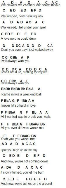 Wrecking Ball for flute *I really really don't like Miley