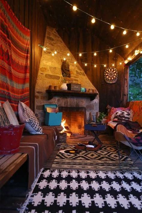 Hippie Style, Boho and String lights on Pinterest