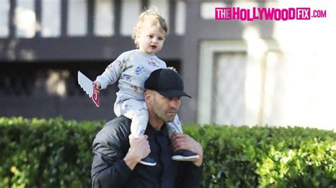 Jason Statham Takes His Son Jack Out For An Afternoon
