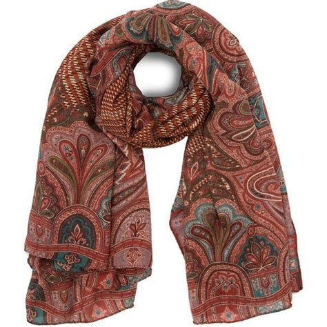 Etro Red Bombay Herr Wool and Silk-Blend Scarf ($440