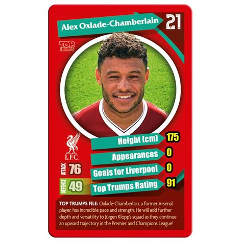 Liverpool FC 2017/18 Top Trumps Card Game