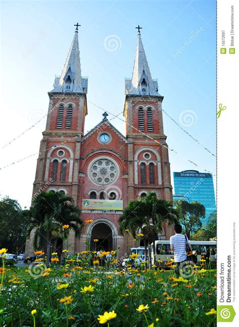 St Mary / Notre Dame Cathedral,Saigon,Vietnam Editorial