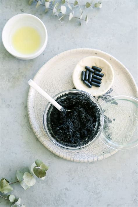 Activated Charcoal Exfoliating Facial Scrub - Live Simply