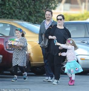 Melissa McCarthy and Ben Falcone take their two daughters