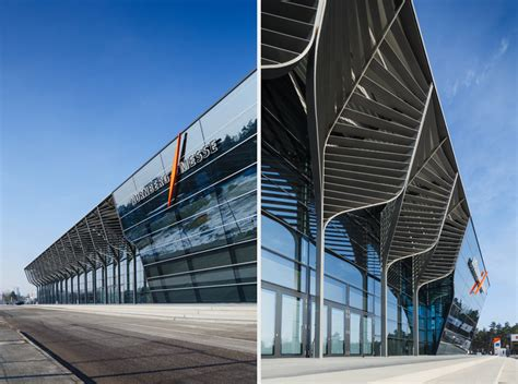 tree-like columns support nuremberg exhibition hall by