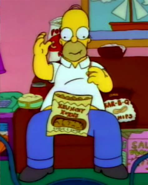 This Guy Scarfs Snacks Exactly Like Homer Simpson Does