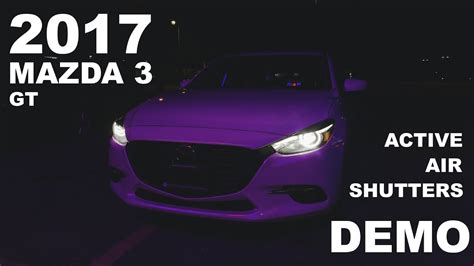 2017 Mazda 3: Active Air Shutters - YouTube