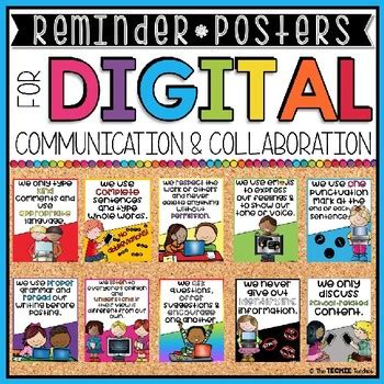 DIGITAL COMMUNICATION AND COLLABORATION POSTERS by The