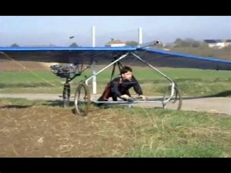 The collapse of the home-made glider | Крушение