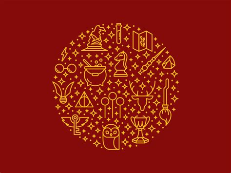 Harry Potter Icons by Holly Hardy for United Designers on