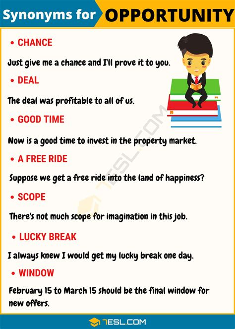 OPPORTUNITY Synonym: List Of 50+ Synonyms For Opportunity