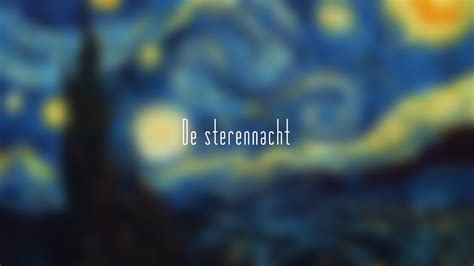 The Starry Night, Painting, Blurred, Typography, Vincent