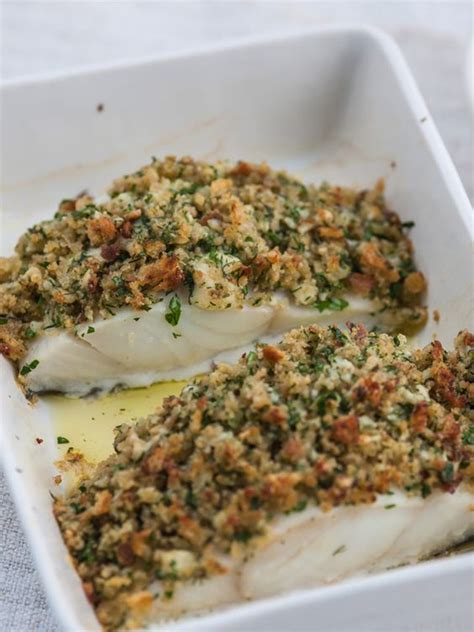 Pollock with cheddar and herb crust   Recipe   Fish pie