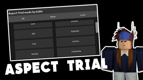 [PATCHED] ROBLOX EXPLOIT - ASPECT TRIAL (PATCHED) IN-GAME
