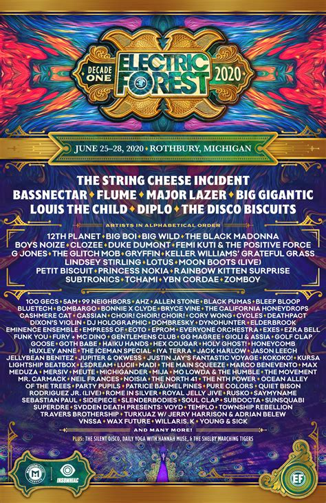 Electric Forest Delivers Massive 2020 Lineup   Your EDM
