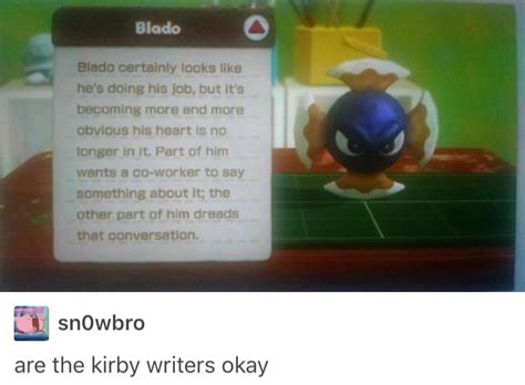 I didn't know that the enemies had jobs | Kirby | Know