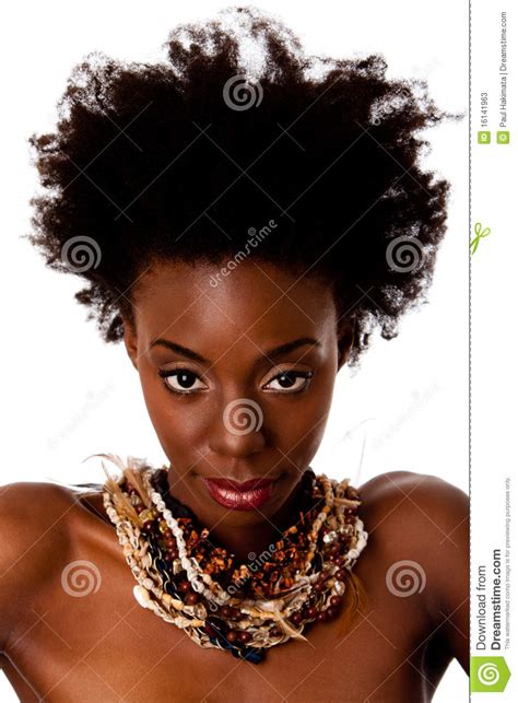 African Tribal beauty face stock image